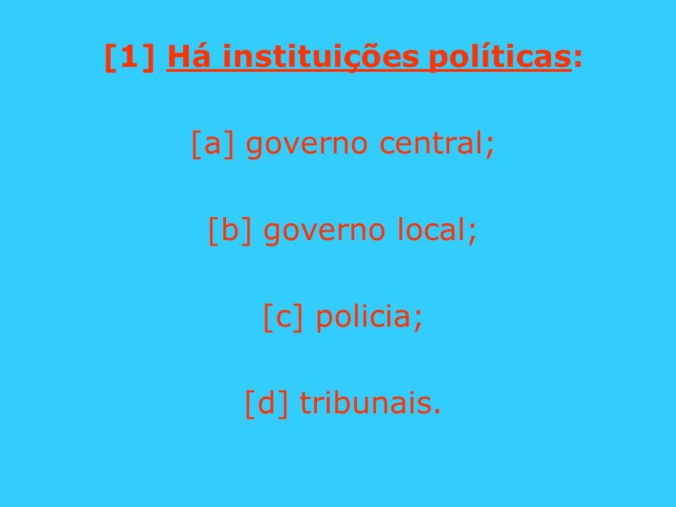 [1] Há instituições políticas: